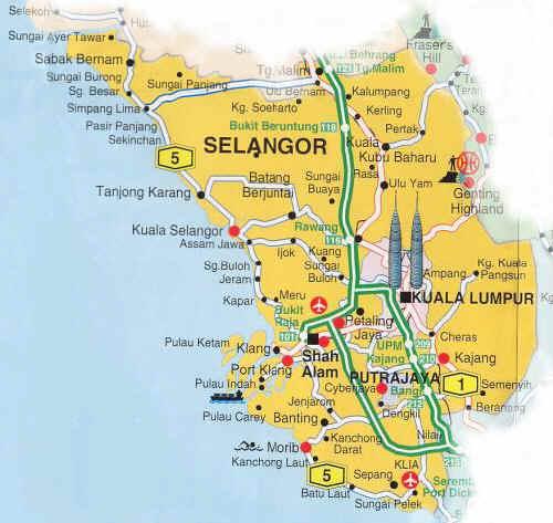 Selangor - Malaysia Maps Guide